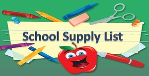 School Supply List Available for PREK4-5th