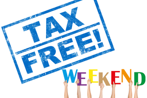 August 10-12 Tax Free Weekend