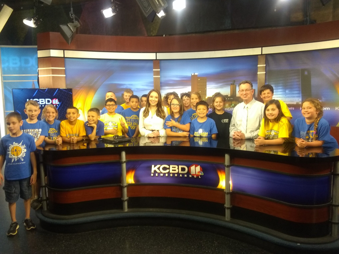 Spur 3rd grade class at NewsChannel 11