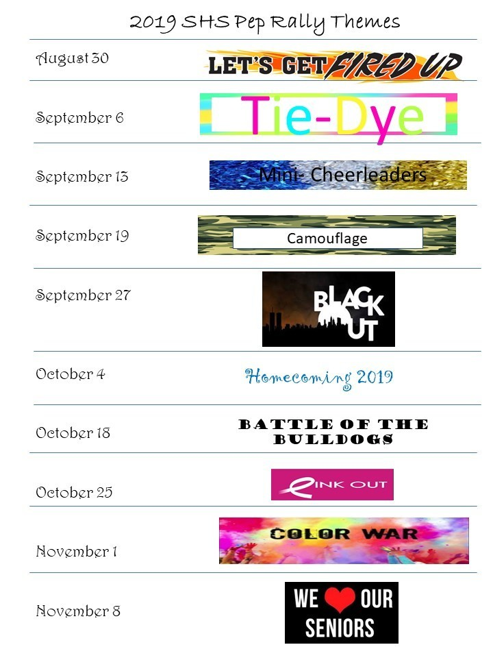 Pep Rally Themes